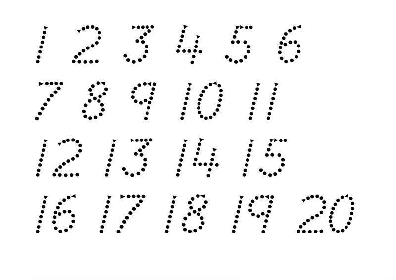 Trace Numbers 1 20 To Learn