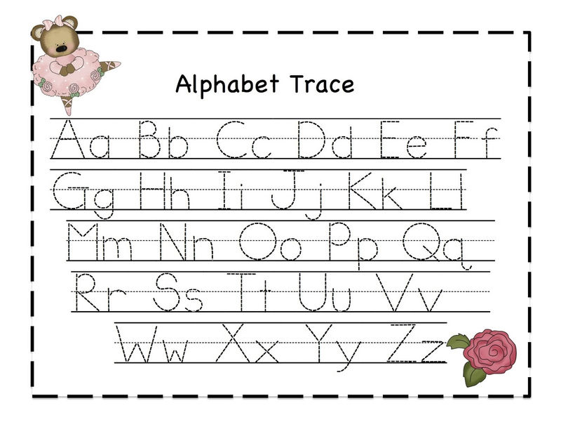 Trace The Alphabet Printable Free Printable 001
