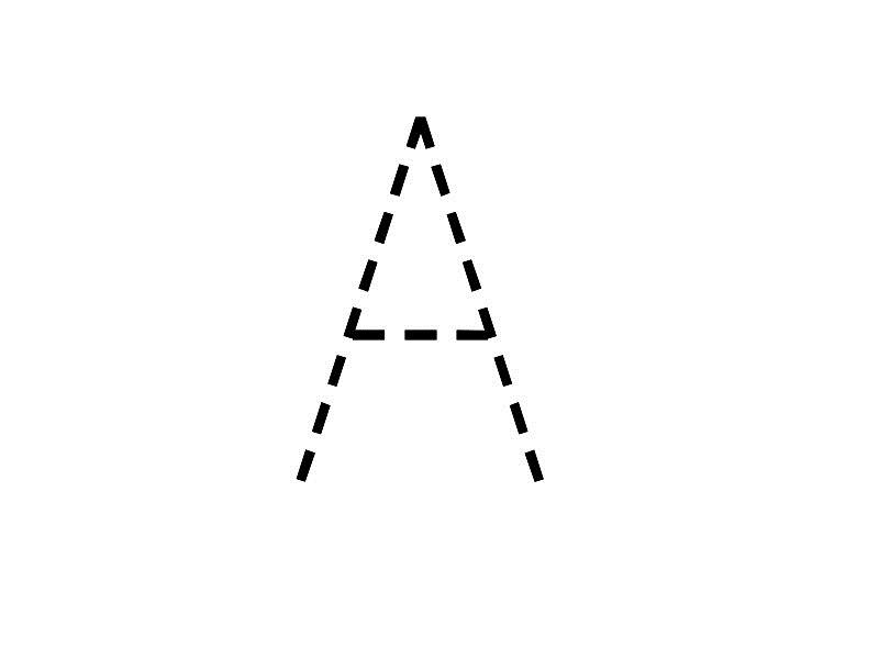 Trace The Letter A Printable