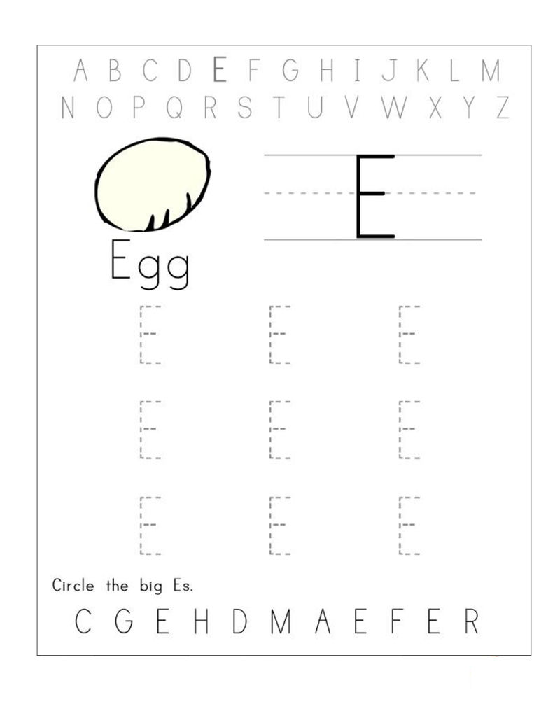 Trace The Letters Egg