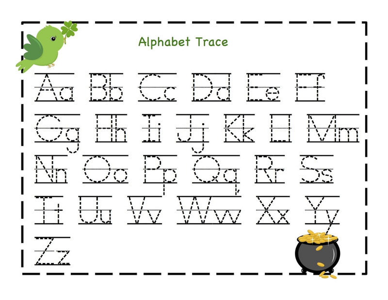 Trace Your Name Worksheet Alphabets