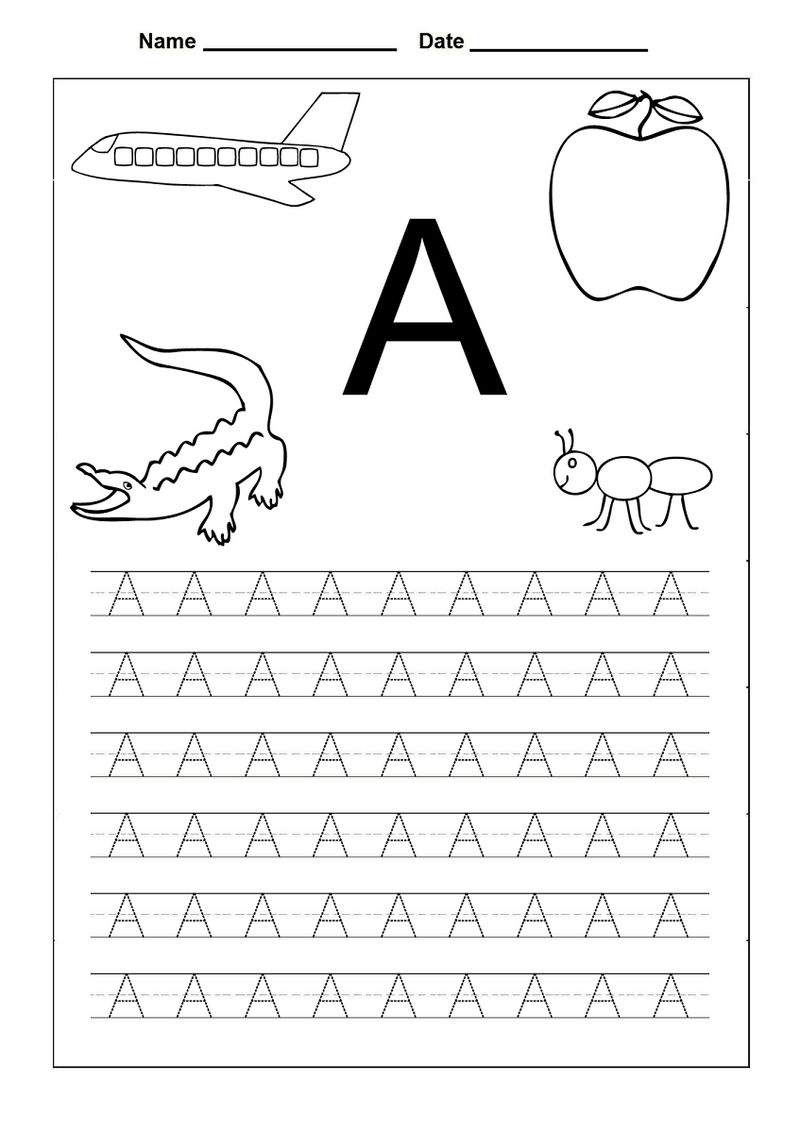 Traceable Alphabet Letters A