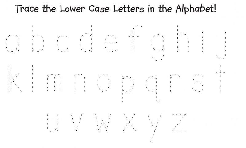 Traceable Alphabet Worksheets A Z Lowercase