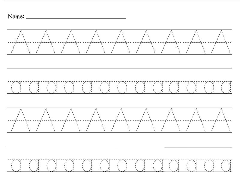 Traceable Letter A Printable