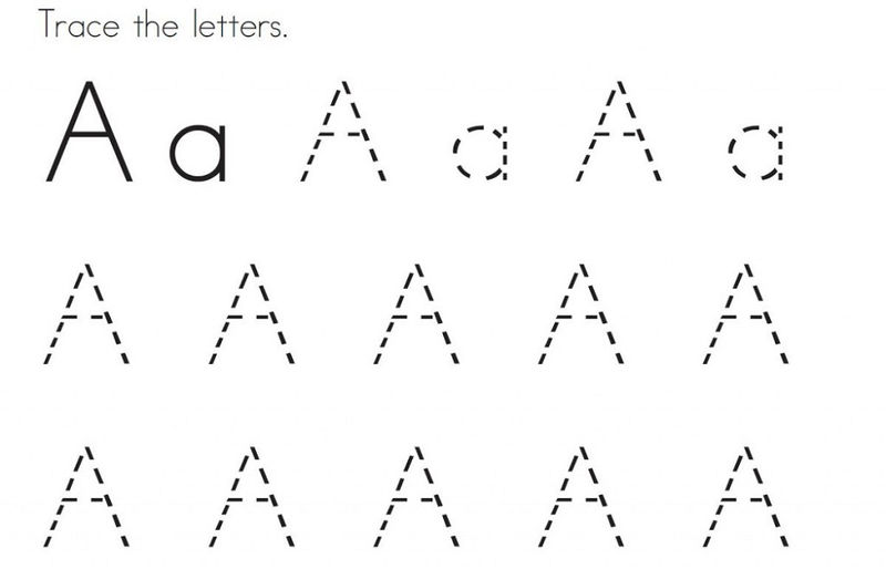 Traceable Letter A Simple