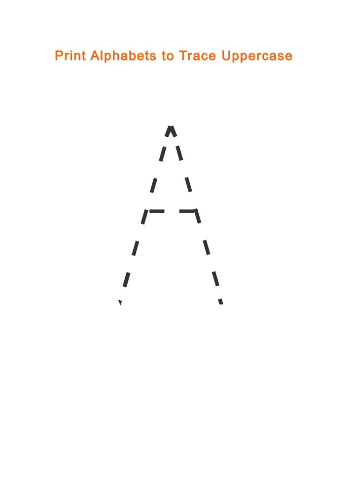 Traceable Letter A Uppercase