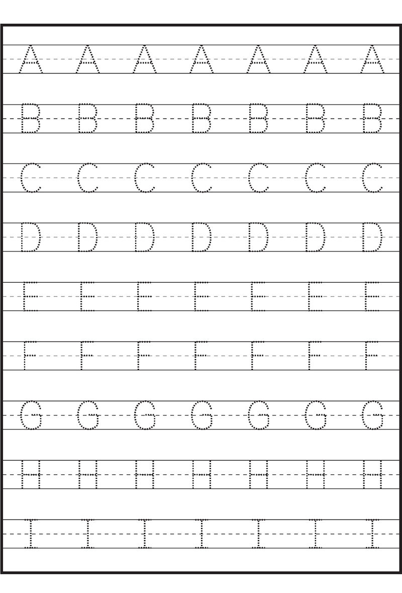 Traceable Letter Worksheets Capital A I