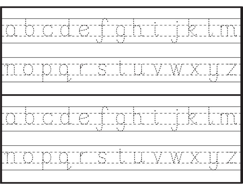 Traceable Letter Worksheets Lowercase