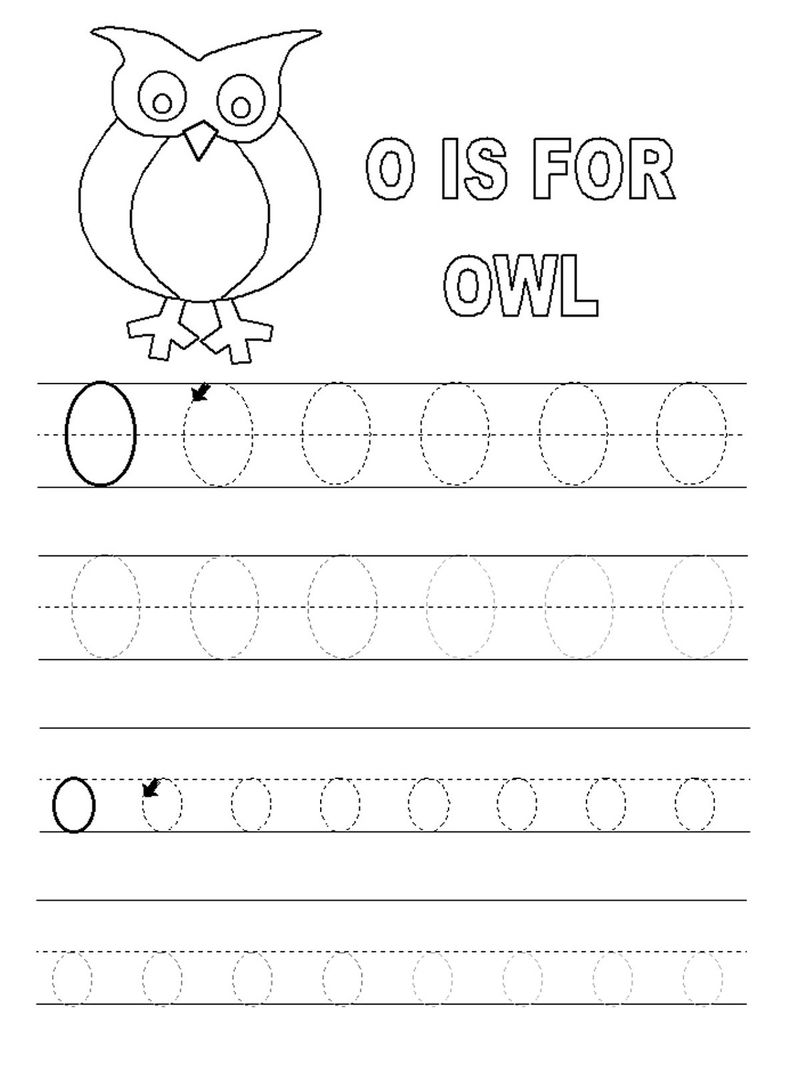 Traceable Letters Free Owl