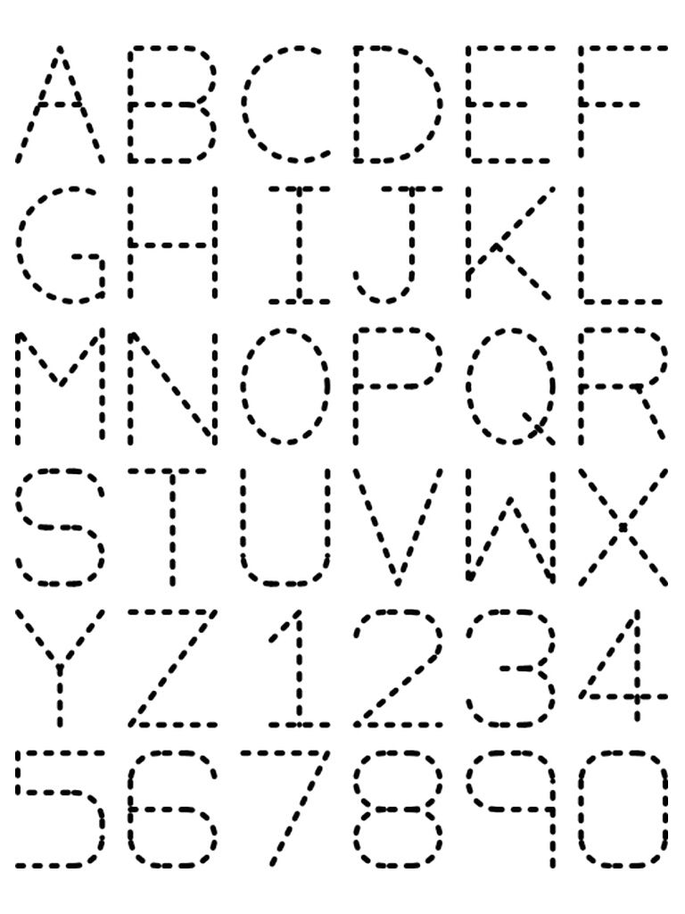 Traceable Letters Worksheets Alphabet Numbers