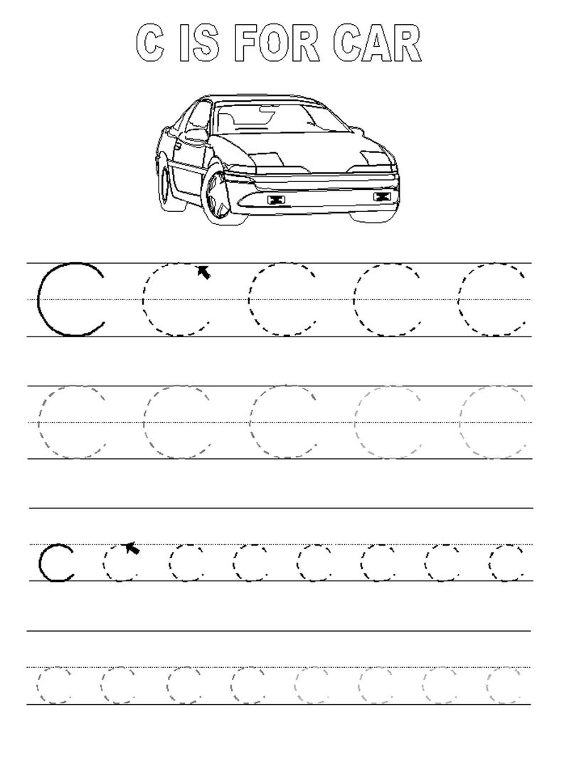 Traceable Letters Worksheets Letter C