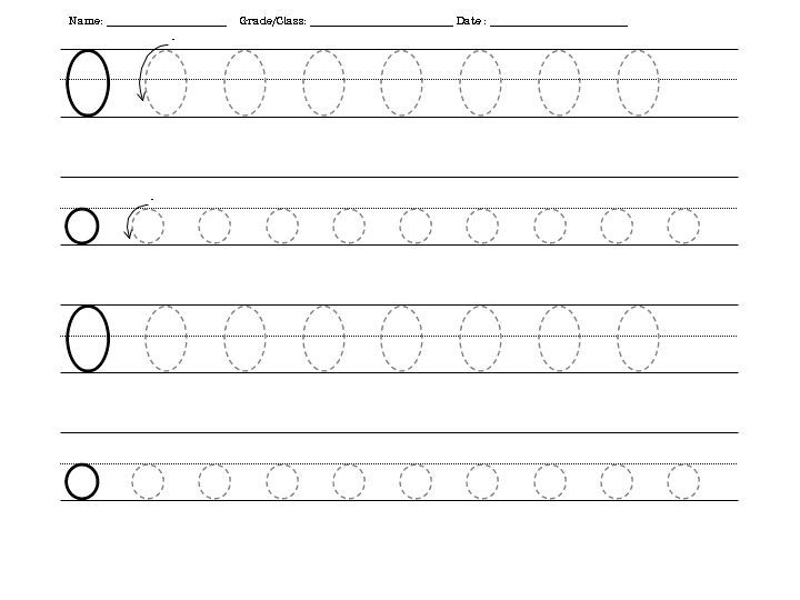 Traceable Letters Worksheets O 001