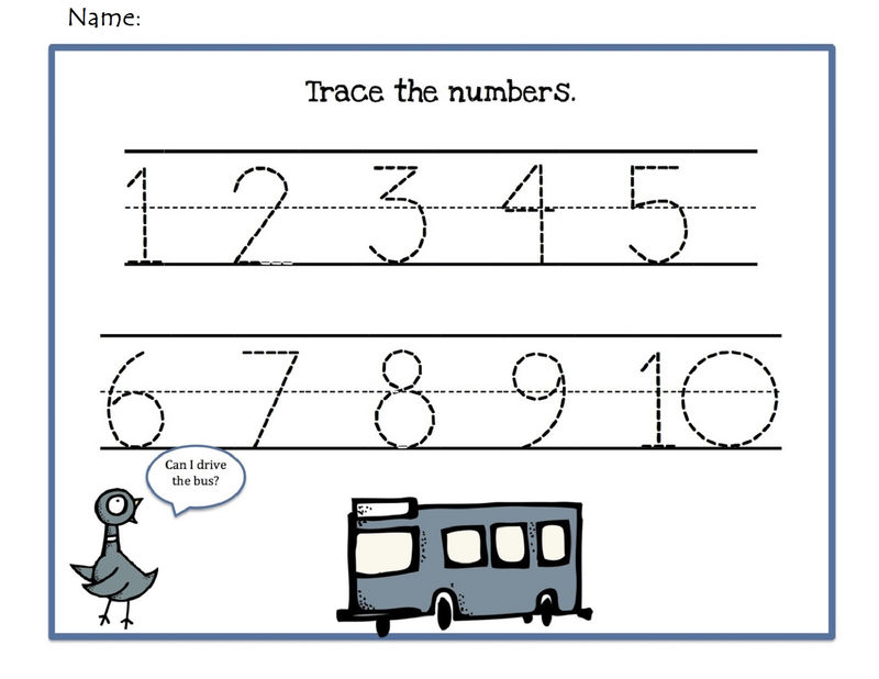 Traceable Number 1 10 Easy Free Printable