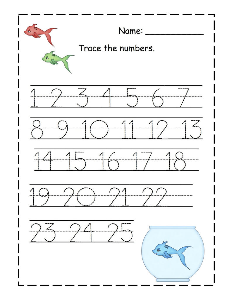 Traceable Numbers 1 10 2