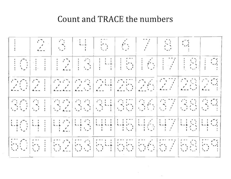 Traceable Numbers Printable 001