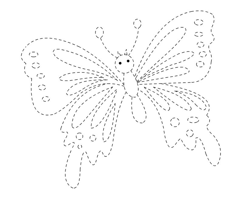 Tracing Activities Butterfly Printable