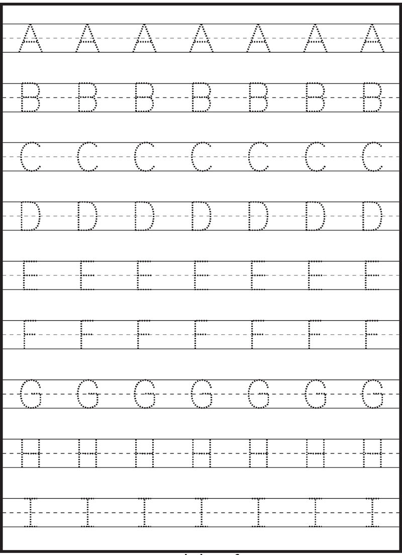 Tracing Letters A I 001