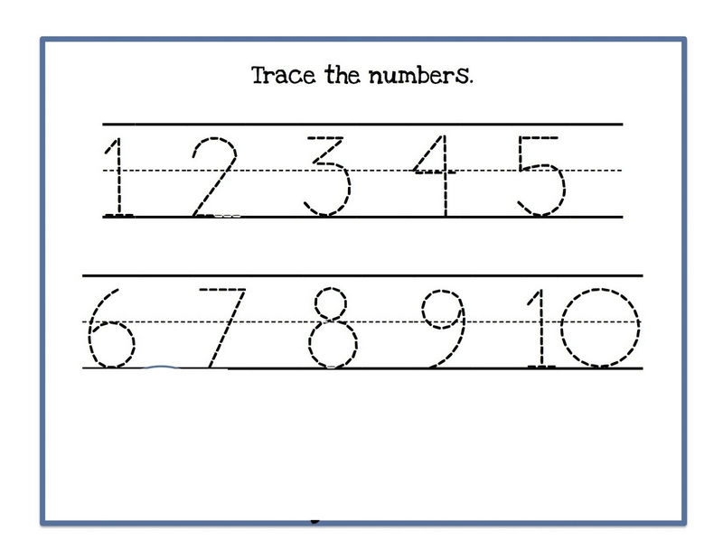 Tracing Numbers 1 10 Worksheet For Kids
