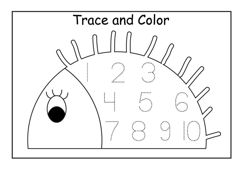 Tracing Numbers 1 5 Trace And Color