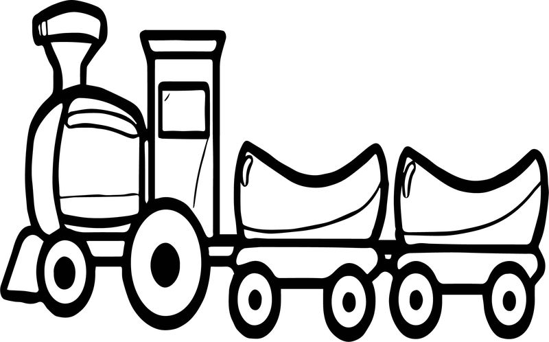 Train Swollen Coloring Page