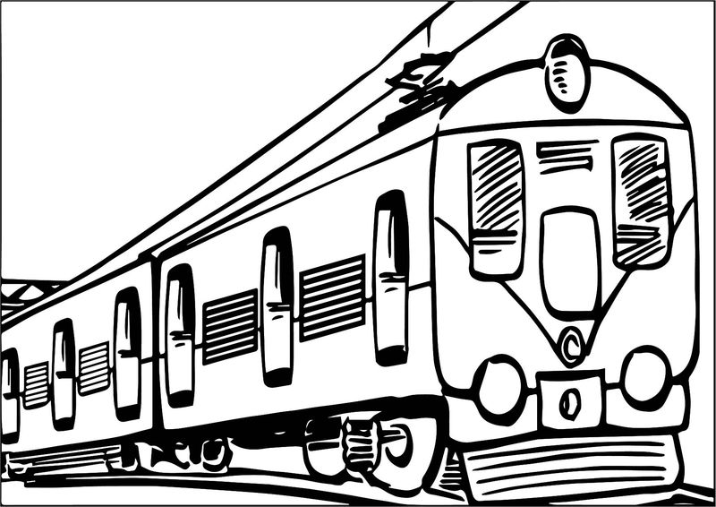 Train Transport Coloring Page
