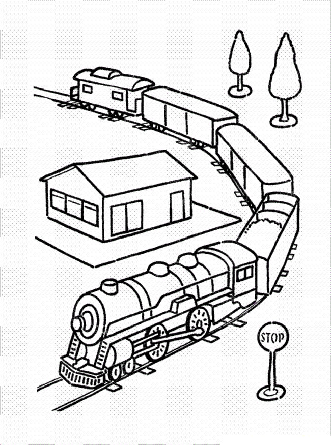 Trains Coloring Pages For Kids