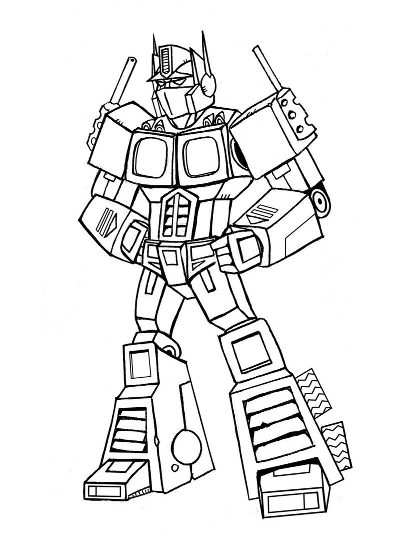 Transformer Coloring Pages Optimus Prime