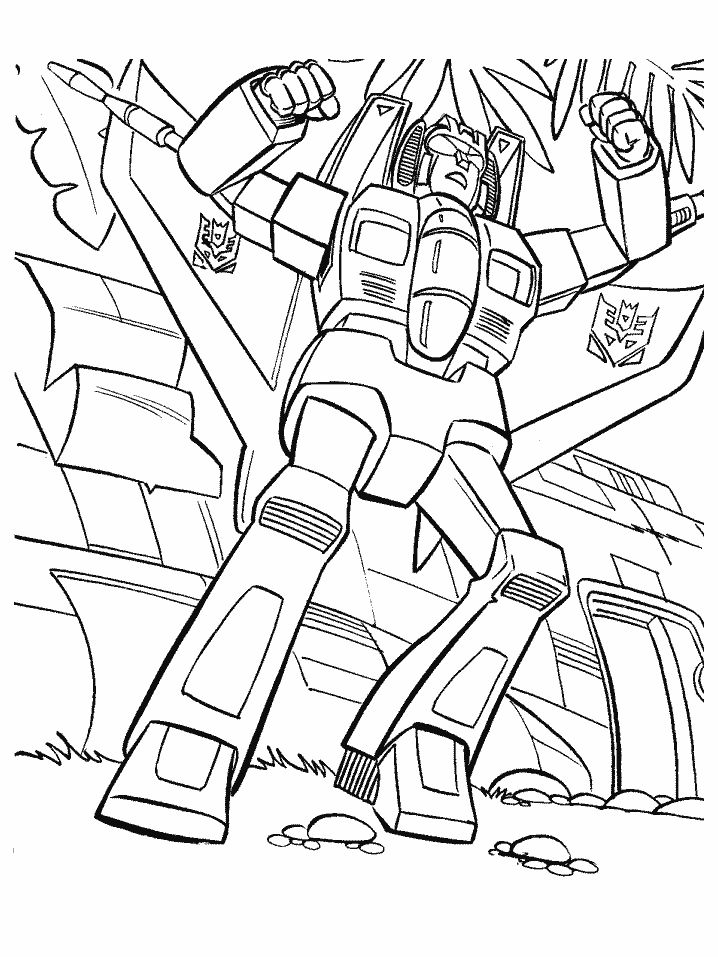 Transformers Animated Coloring Pages