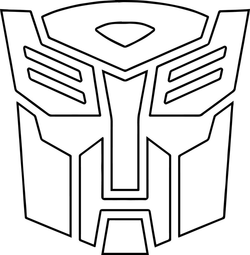 Transformers Autobot Logo Coloring Page
