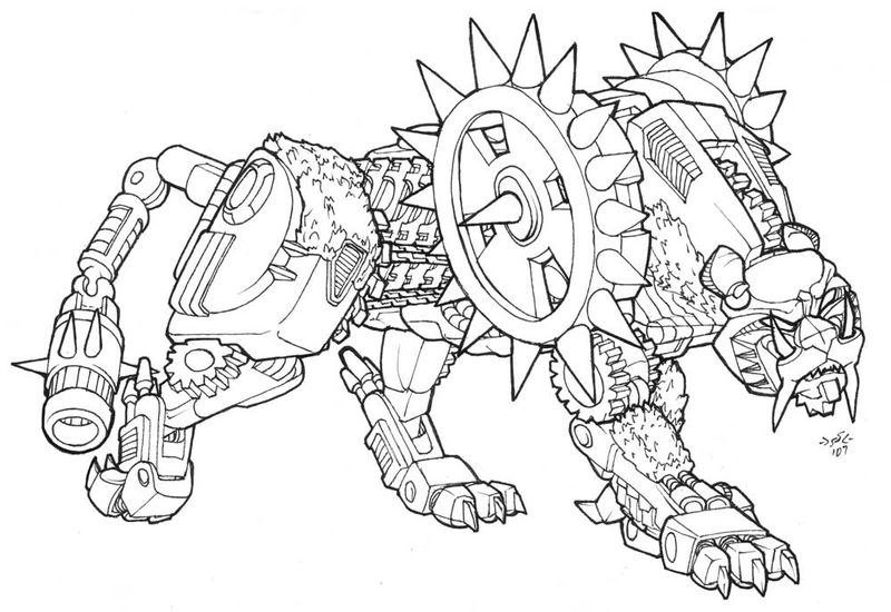 Transformers Beast Coloring Page