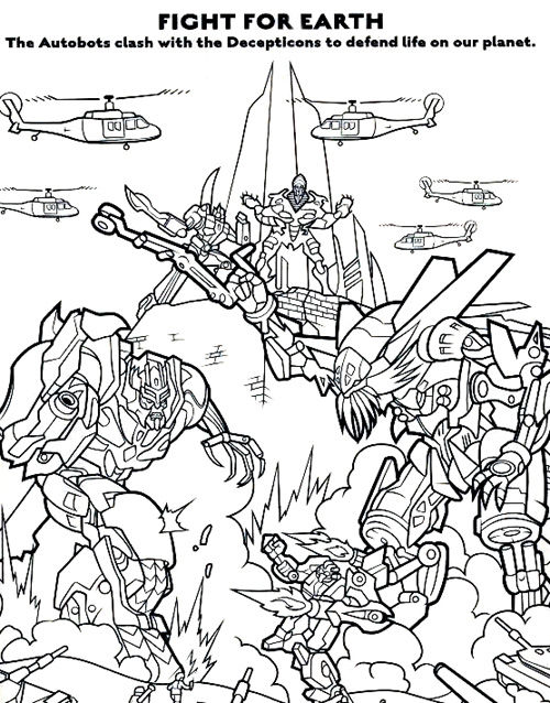 Transformers Coloring Book Page