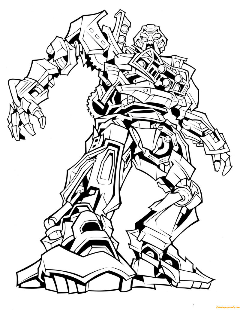 Transformers Coloring Pages Ratchet