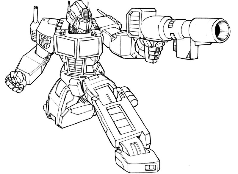 Transformers Coloring Pages To Print And Color