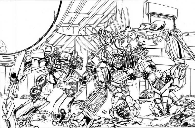 Transformers Coloring Pages 1