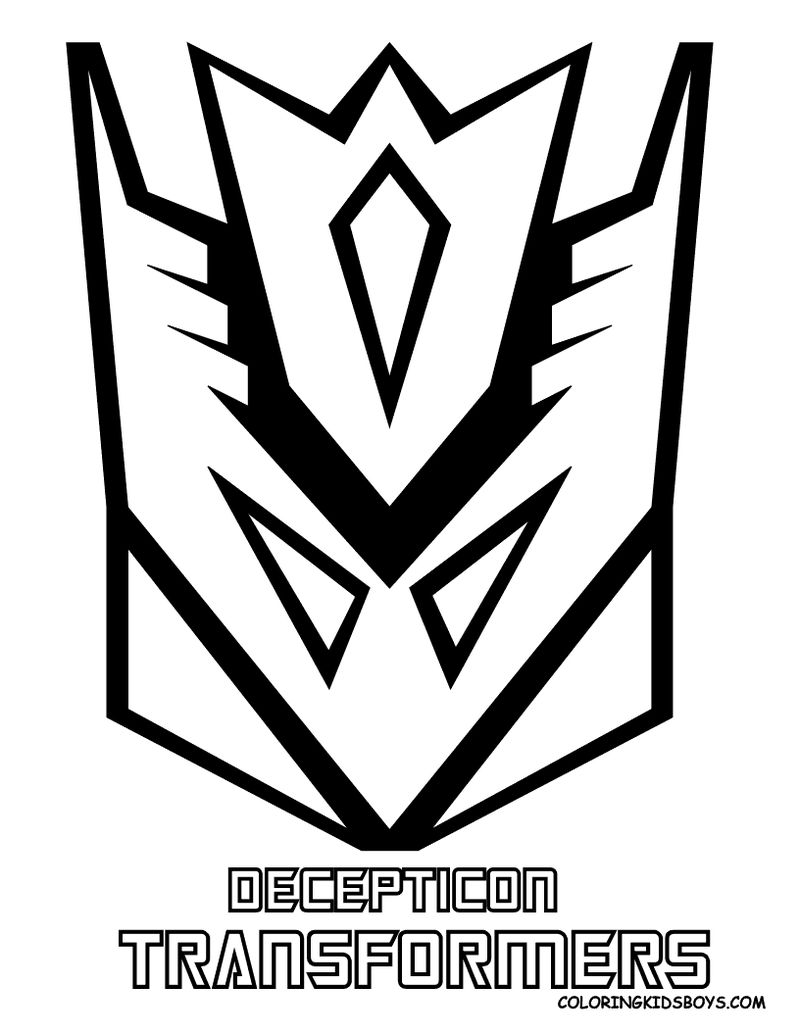 Transformers Decepticon Mask Coloring Pages
