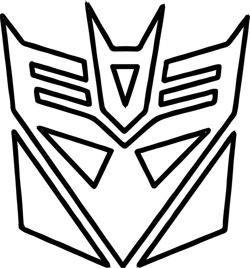 Transformers Logo Coloring Page