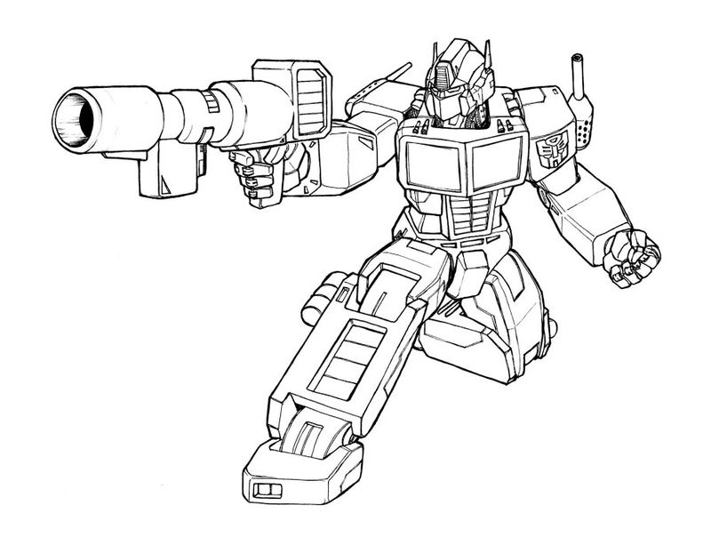 Transformers Optimus Prime Coloring Pages To Print
