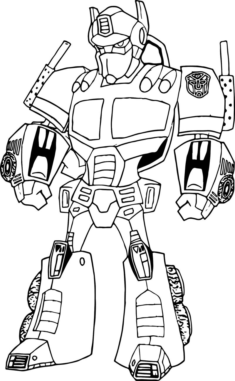 Transformers Optimus Prime Robot Coloring Page