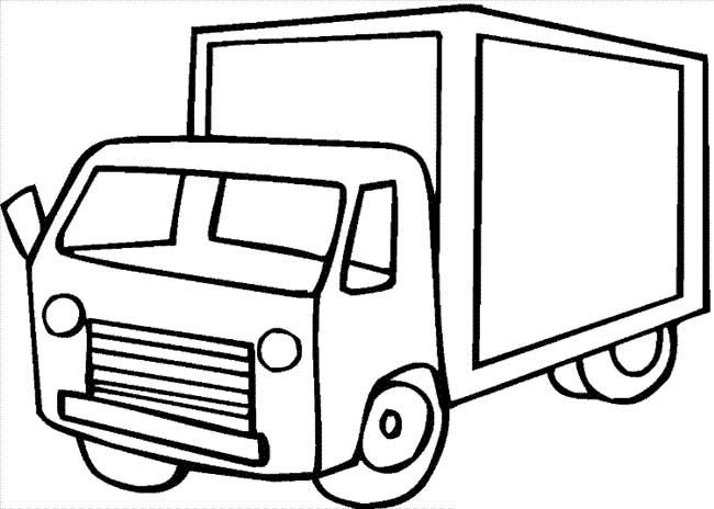 Transport Truck Coloring Pages
