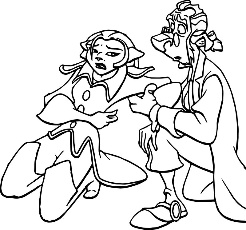 Treasure Planet Injured Coloring Pages