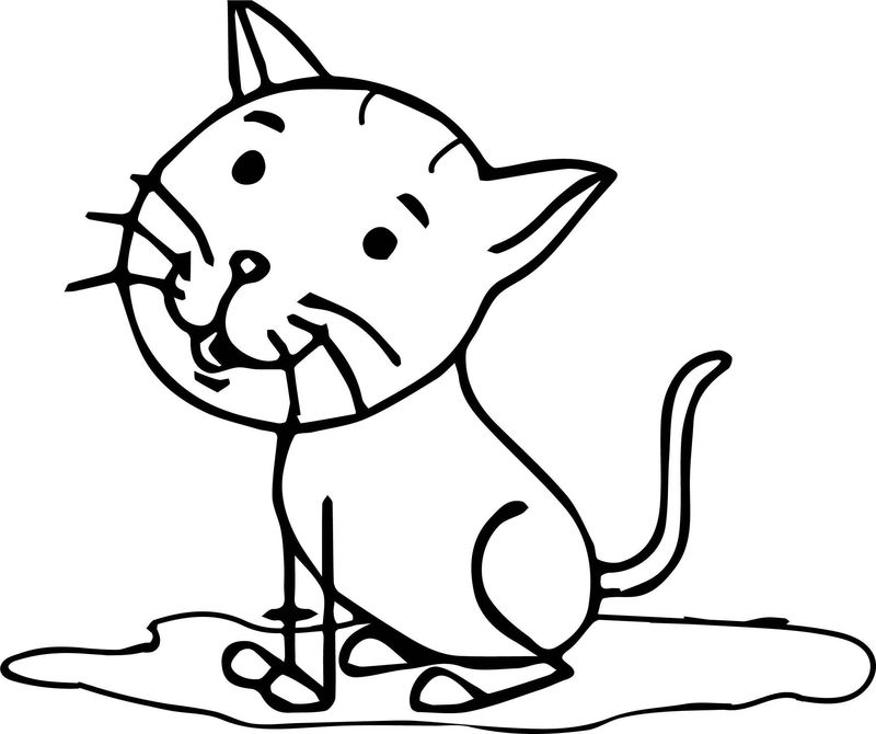 Tree Cat Coloring Page