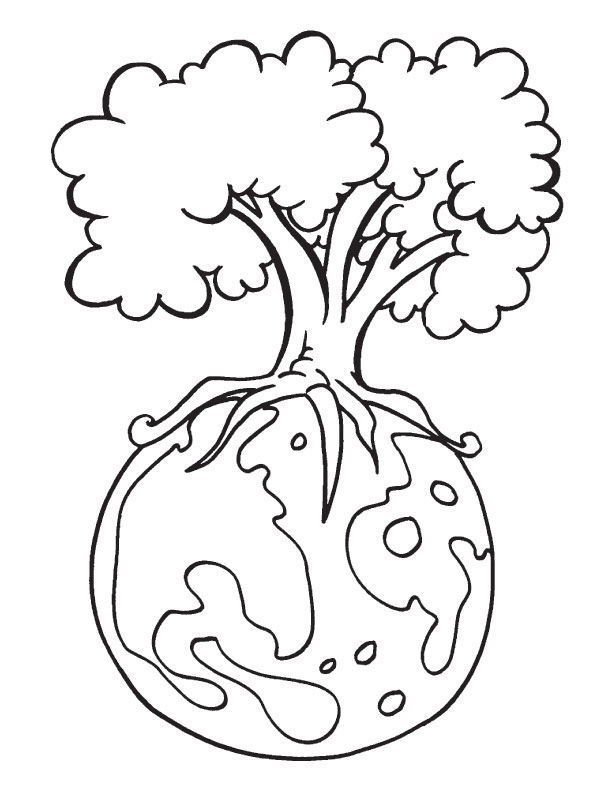 Tree Earth Day Coloring Pages