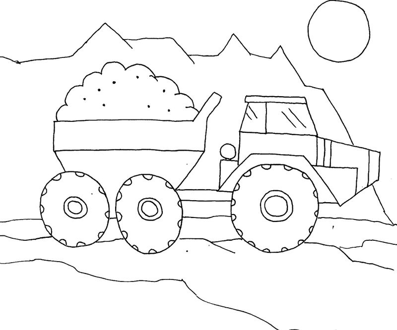 Truck Color Pages For Kindergarden