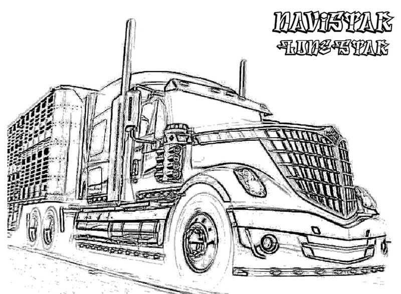 Truck Coloring Pages For Boys 001