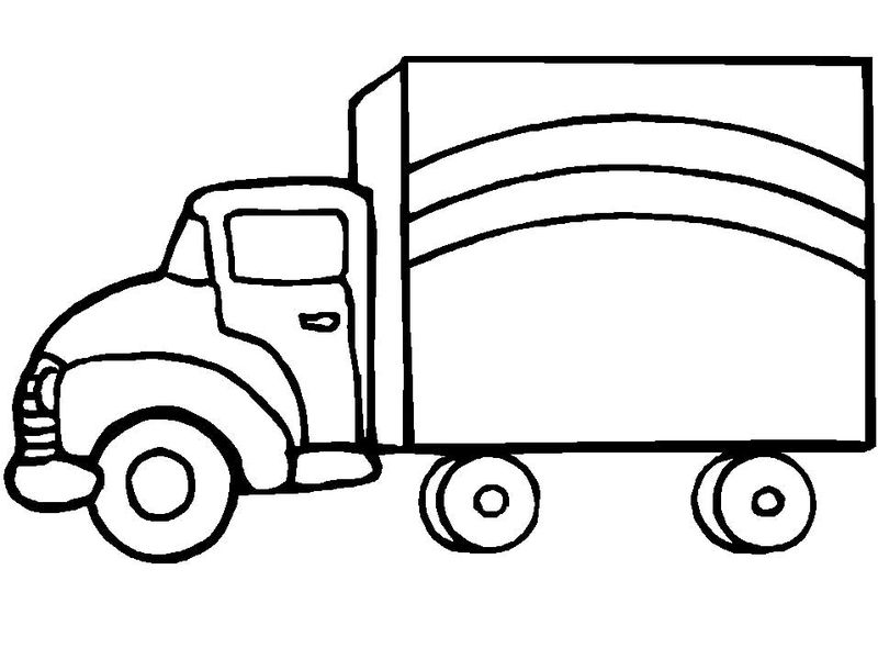 Truck Coloring Pages For Preschoolers