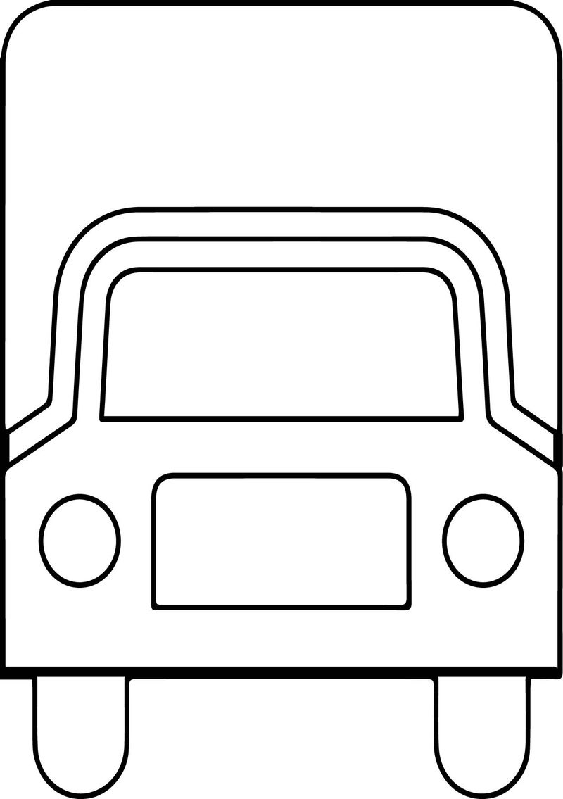 Truck Front Coloring Page