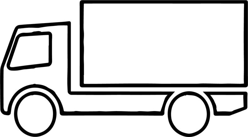 Truck Images Coloring Page