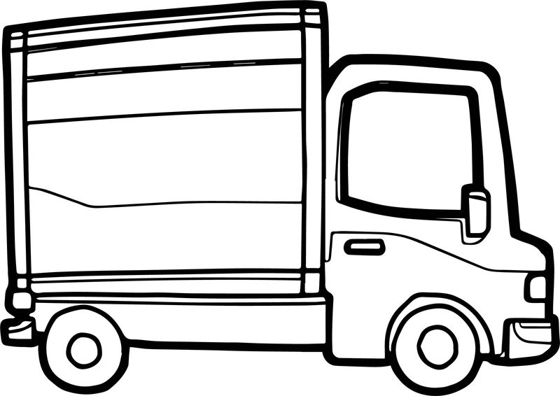 Truck Side Coloring Page
