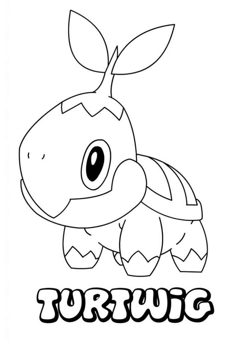 Turtwig Pokemon Coloring Pages