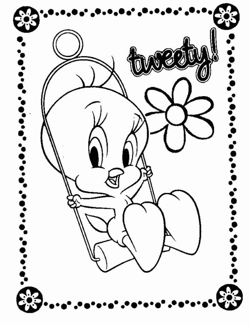 Tweety Bird Coloring Pages Pictures